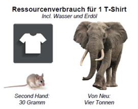 Ressourcenverbrauch für 1 T-Shirt